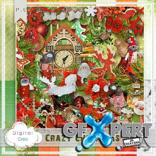 Holidays scrap set - Crazy Christmas
