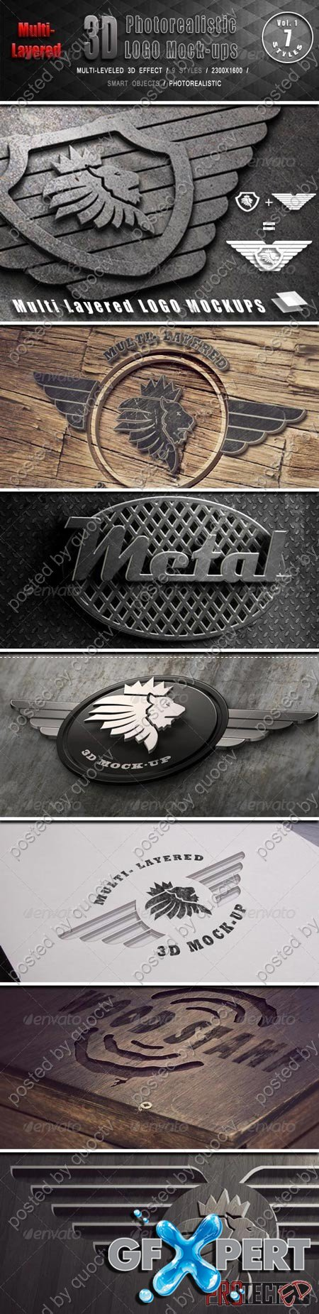 GraphicRiver Photorealistic Multi-Layered 3D Logo Mock-Up 6453380