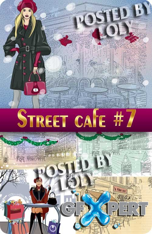 Street Cafe #7 - Stock Vector