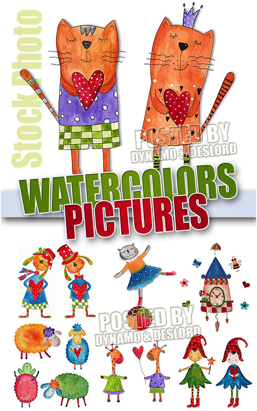 Watercolors pictures - UHQ Stock Photo