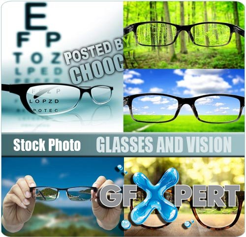 Glasses and vision - Stock Photo