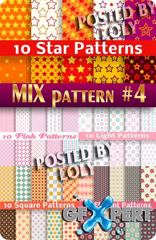 Mix Patterns #4 - Stock Vector