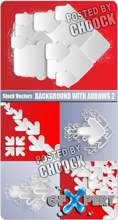Background with arrows 2 - Stock Vector