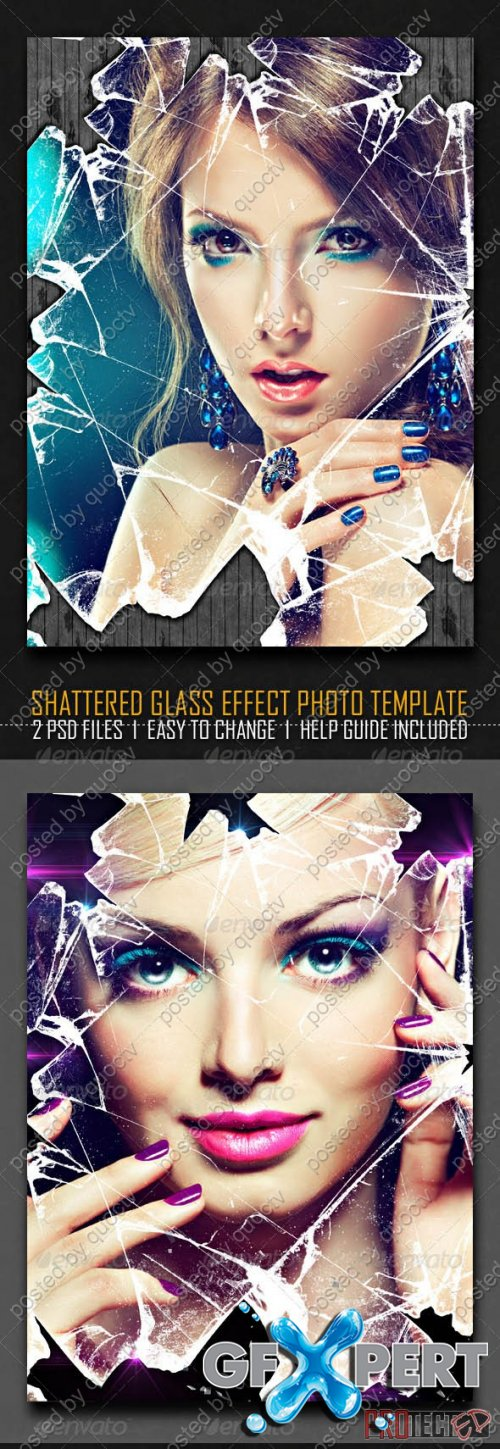 GraphicRiver - Shattered Glass Effect Photo Template - 6521455