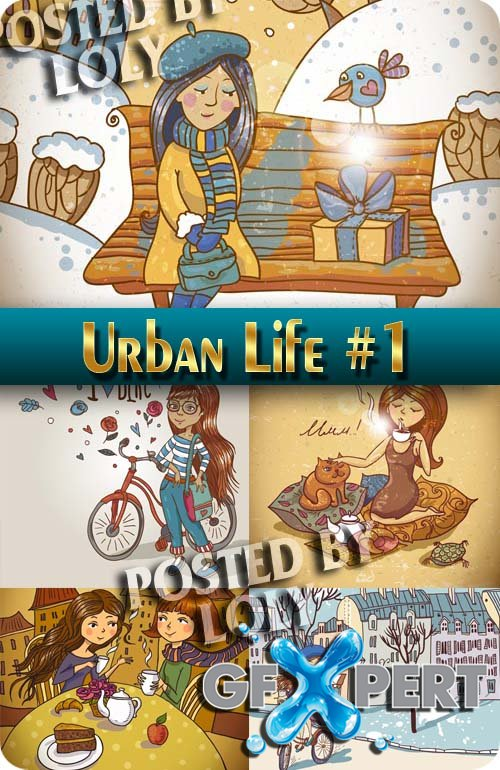 Urban Life #1 - Stock Vector
