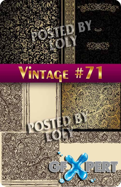 Vintage backgrounds #71 - Stock Vector