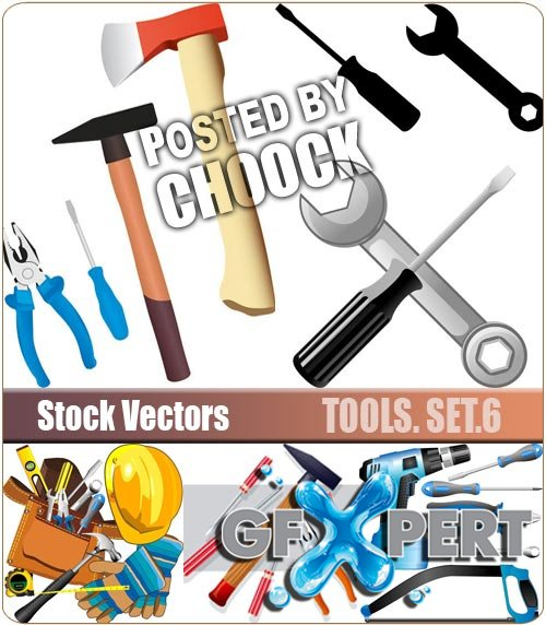 Tools. Set.6 - Stock Vector