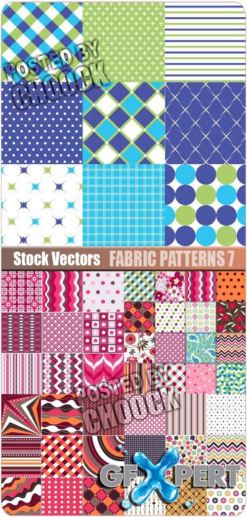 Fabric patterns 7 - Stock Vector