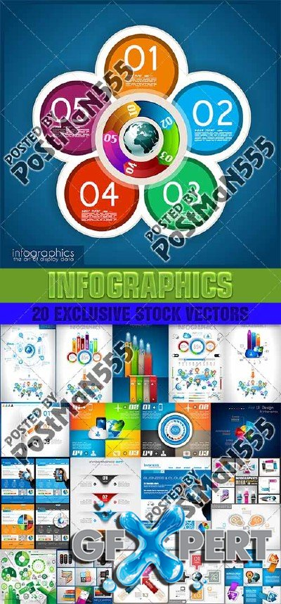 Design templates for enterprises, infographics 10 - Vector
