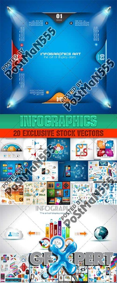 Design templates for enterprises, infographics 11 - Vector