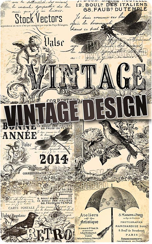 Vintage design - Stock Vectors