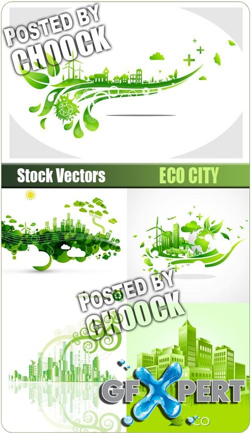 Eco city - Stock Vector