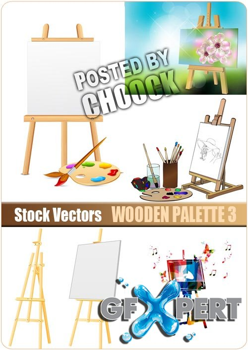 Wooden palette 3 - Stock Vector