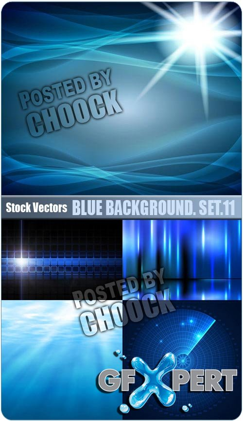 Blue background. Set.11 - Stock Vector