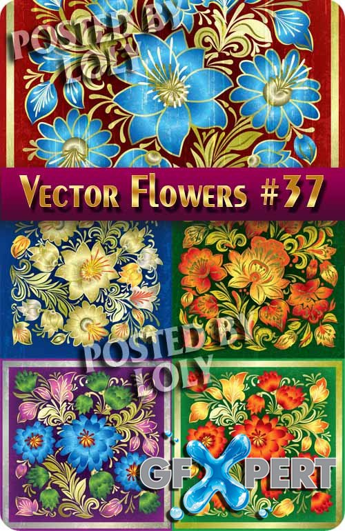 Vector Flowers #37 - Stock Vector
