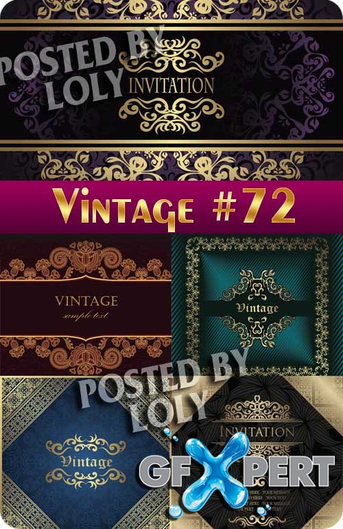Vintage backgrounds #72 - Stock Vector