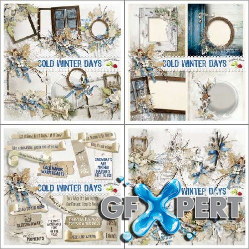 Magnificent scrap set - Cold Winter Days