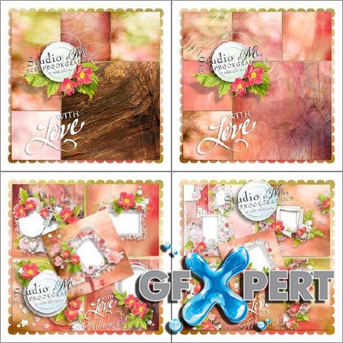 Digital scrapbooking kit - With Love