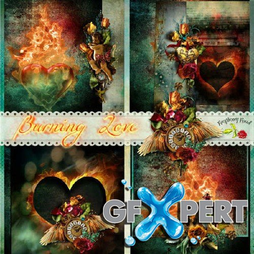 Scrap set - Burning Love