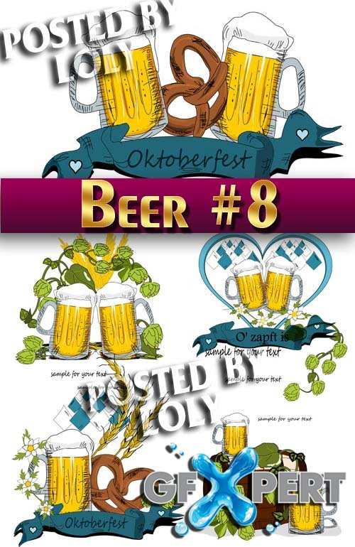 Beer #8 - Stock Vector