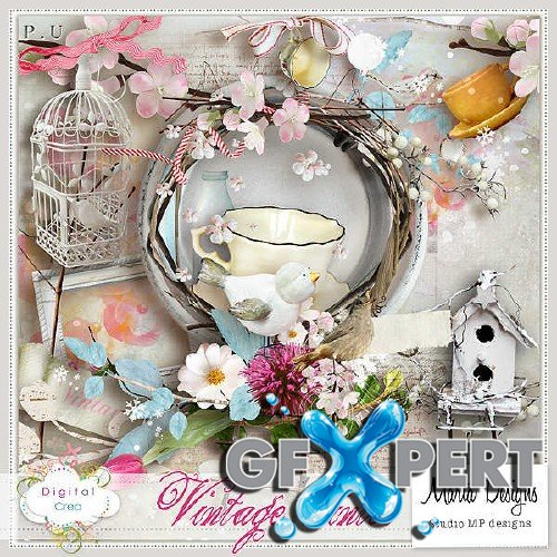 Beautifully scrap kit - Vintage Winter