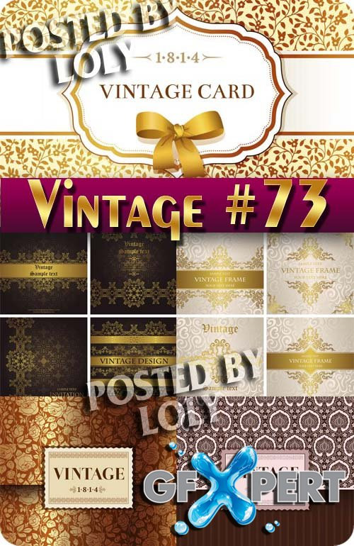 Vintage backgrounds #73 - Stock Vector
