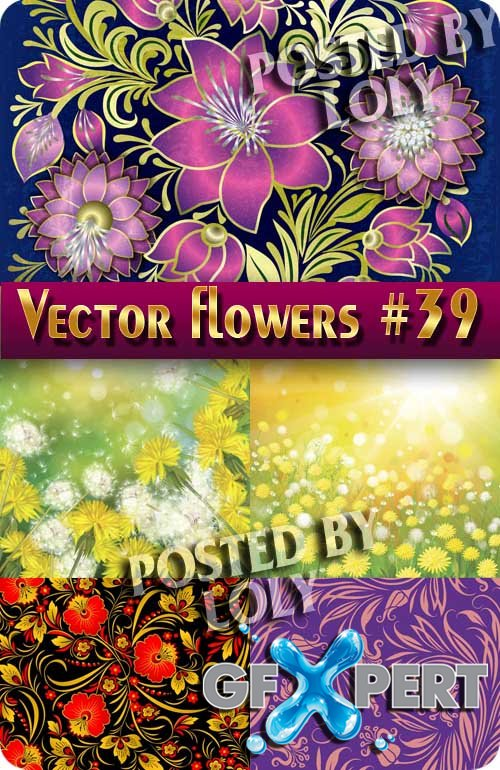 Vector Flowers #39 - Stock Vector