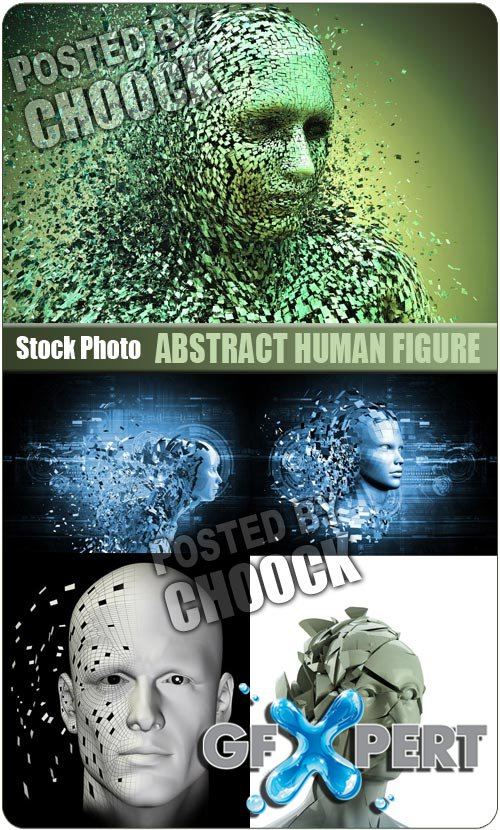 Abstract human figure - Stock Photo