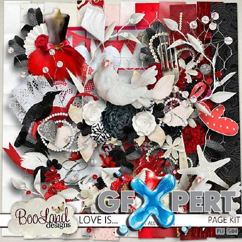 Romantic scrap set - Love Is