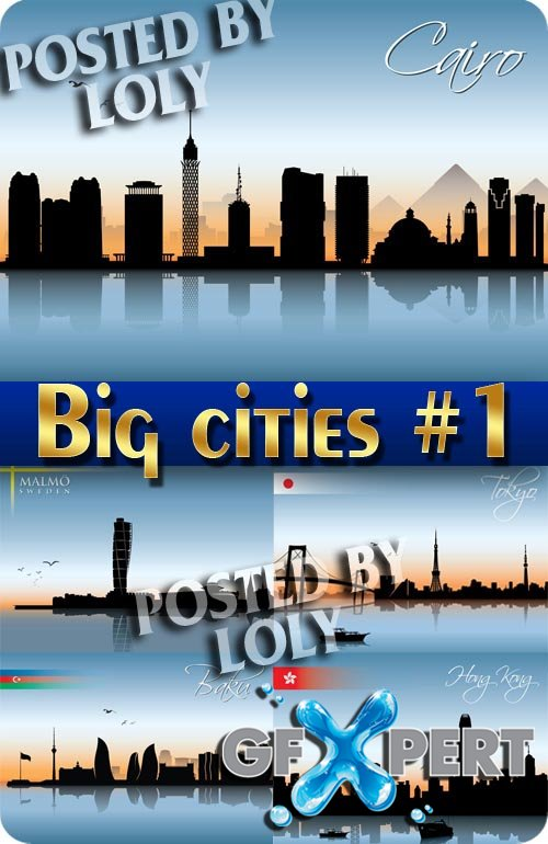 Big cities #1 - Stock Vector