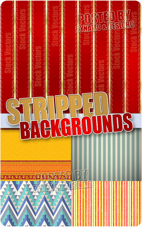 Striped Backgrounds - Stock Vectors