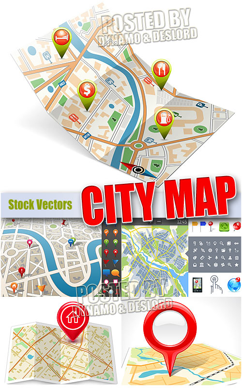 City map 2 - Stock Vectors