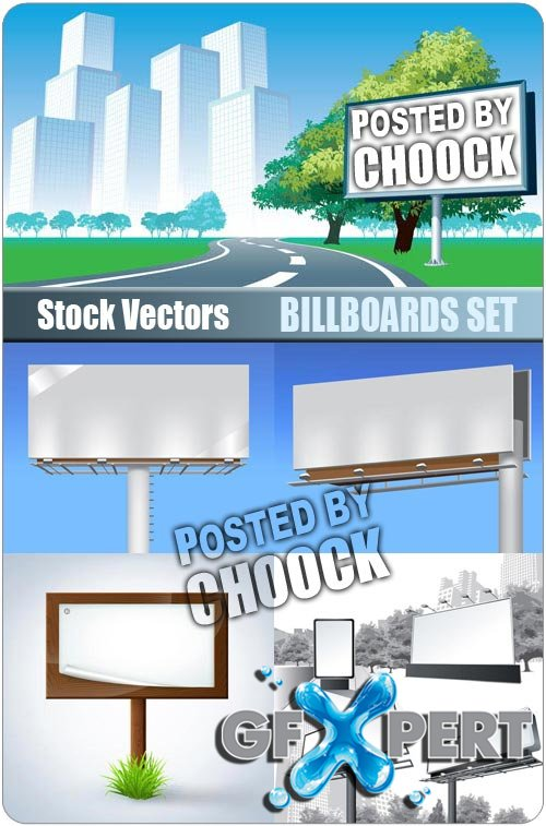 Billboards set - Stock Vector