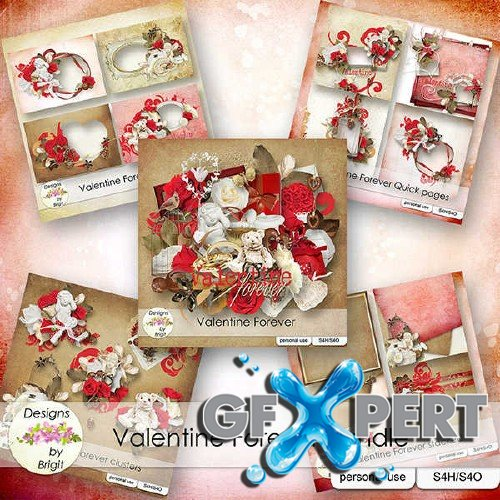 Digital scrapbooking kit - Valentine Forever