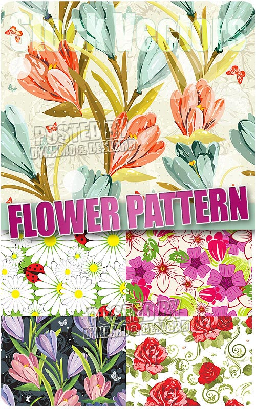 Flower samples pattern - Stock Vectors