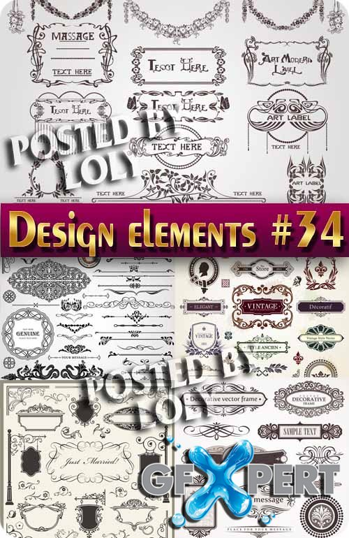 Design elements #34 - Stock Vector
