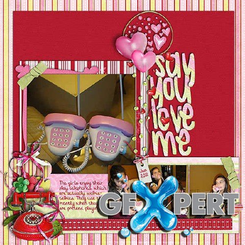 Amorous scrap set - Say you love me