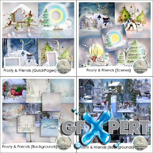 Digital scrapbooking kit - Frosty And Friends