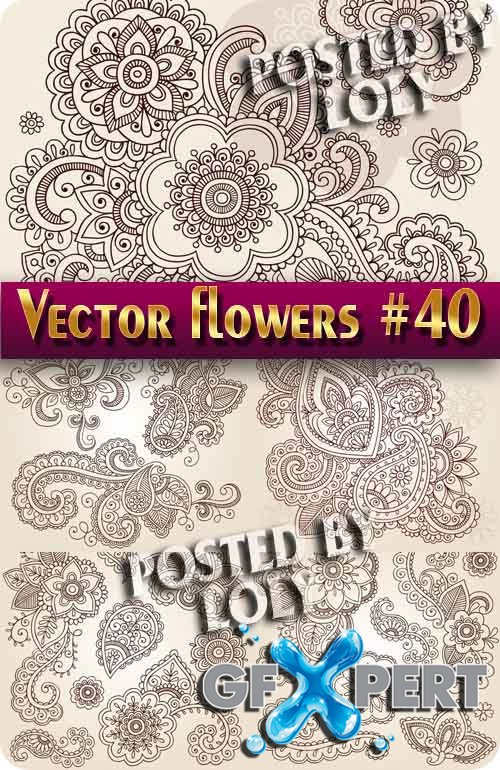 Vector Flowers #40 - Stock Vector
