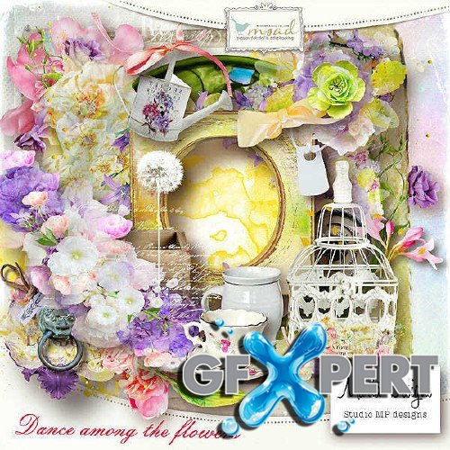 Colorful scrap kit - Dance among the flowers
