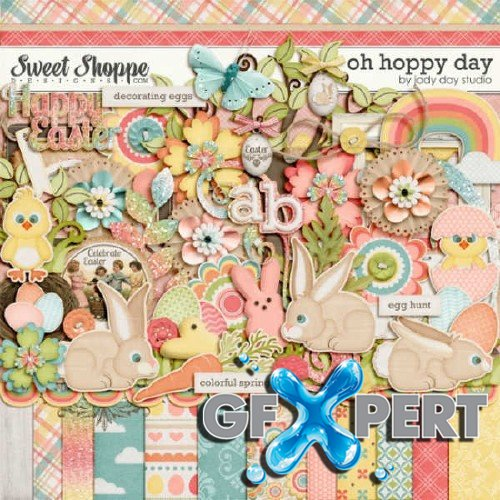 Scrapbooking set - Oh Hoppy Day