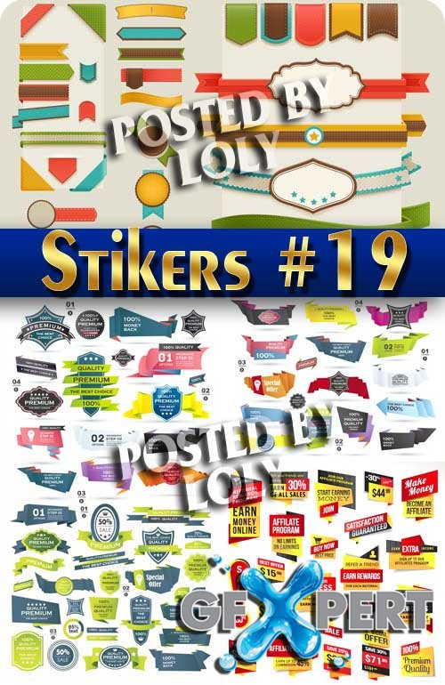 Stickers. SALE #19 - Stock Vector