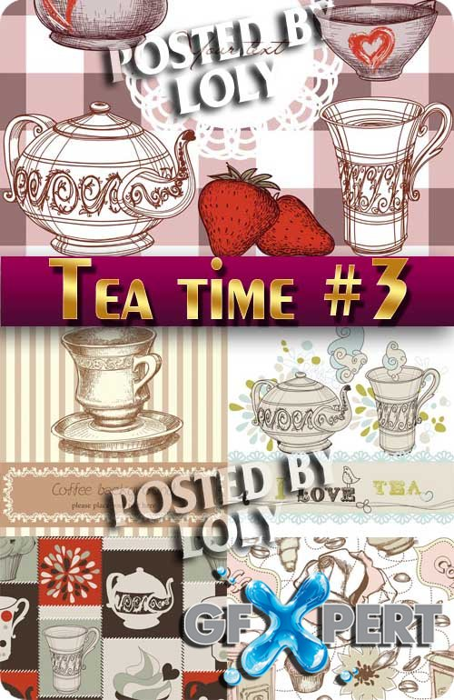 A cup of tea #3 - Stock Vector