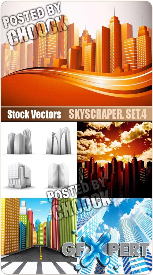 Skyscraper. Set.4 - Stock Vector