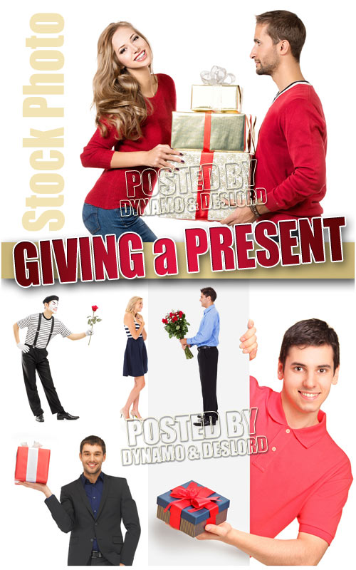 Giving a Present - UHQ Stock Photo