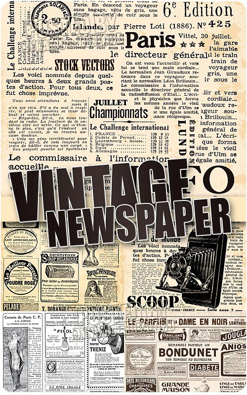 Vintage newspaper - Stock Vectors
