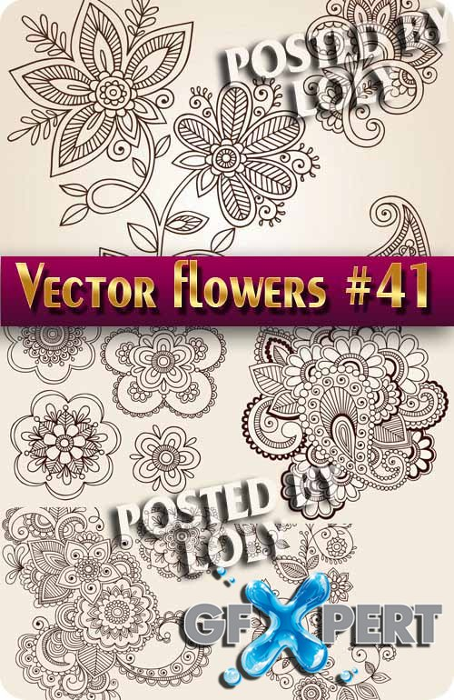 Vector Flowers #41 - Stock Vector