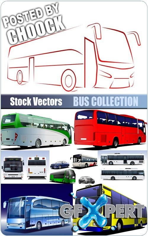 Bus collection - Stock Vector