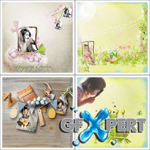 2 scrap kits by Lily - Egg Hunt and Easter Bunny