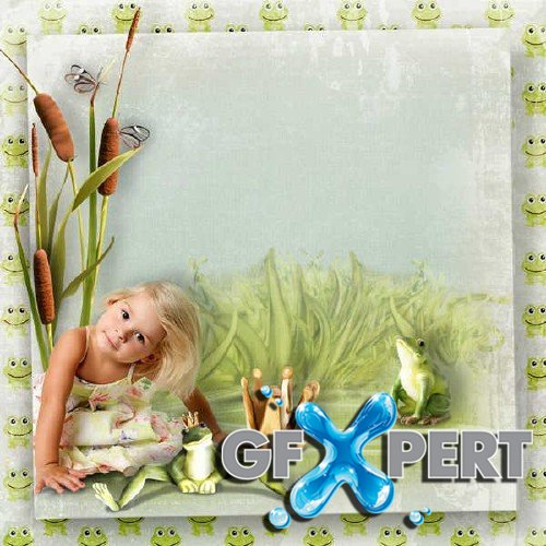 Beautifully scrap kit - A Froggy Day